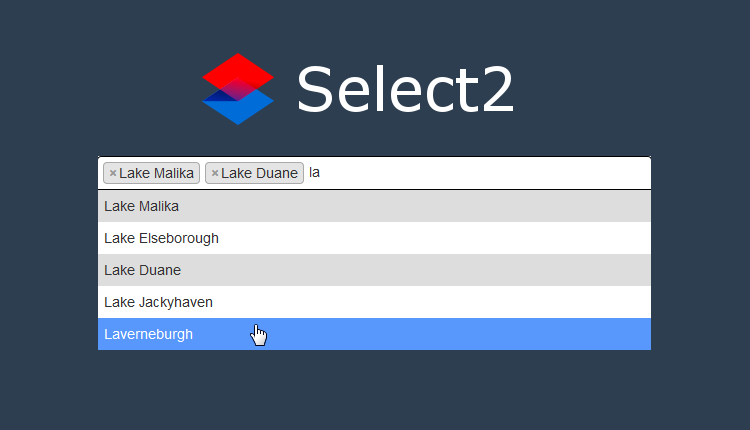 Select2 and Laravel: Ajax Autocomplete